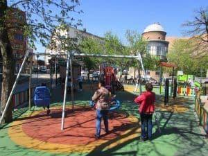 El parque está en el centro de la ciudad de Avila