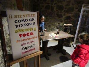 Los niños se divierten en el museo caprotti de Ávila
