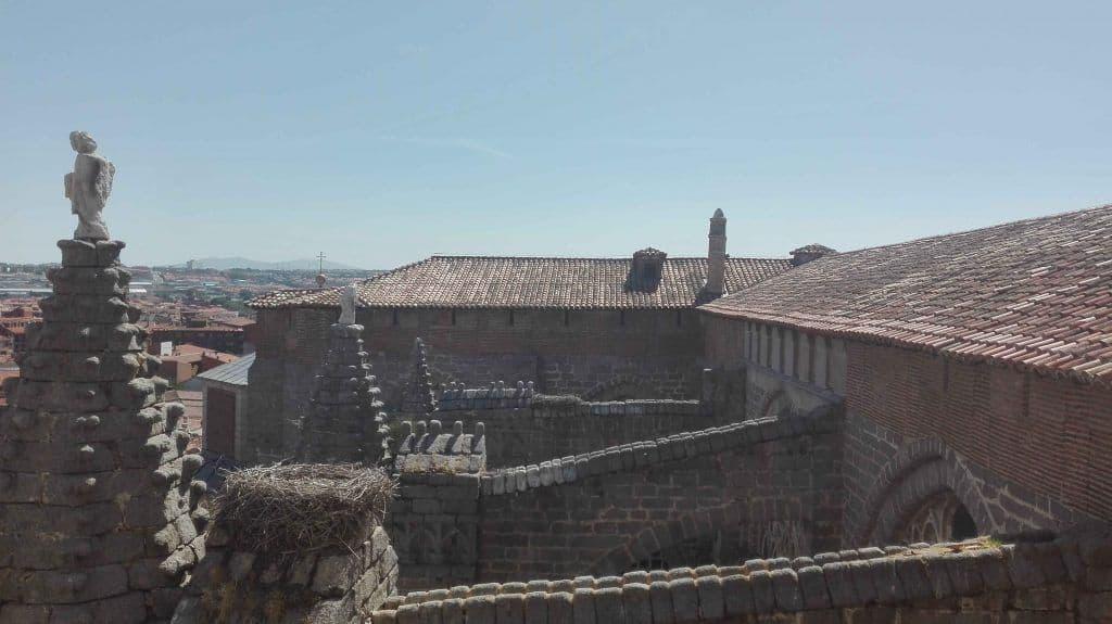 Vistas desde la torre de la catedral de Ávila.
