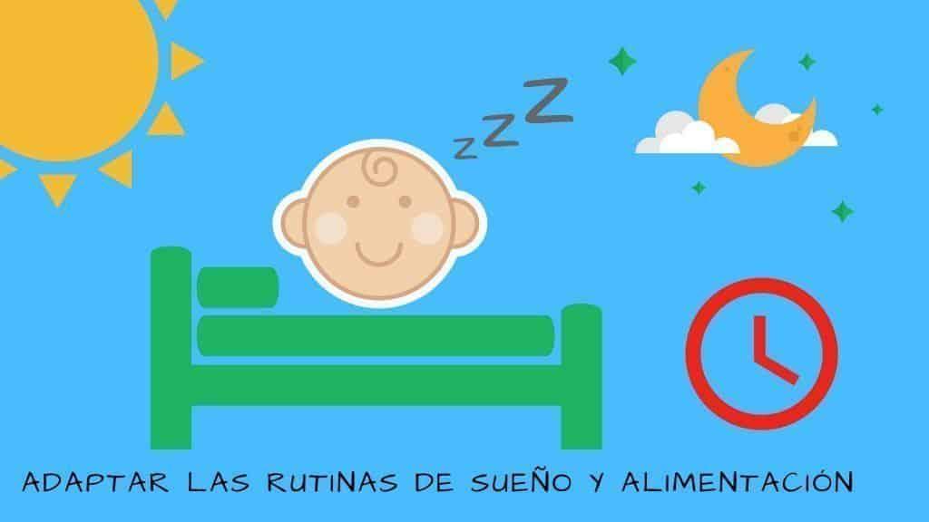 vuelta al cole. Adaptar rurtinas del sueño