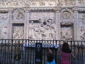 Imagen del trascoro de la catedral de Ávila.