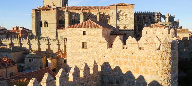 La catedral vista desde la Muralla de Ávila