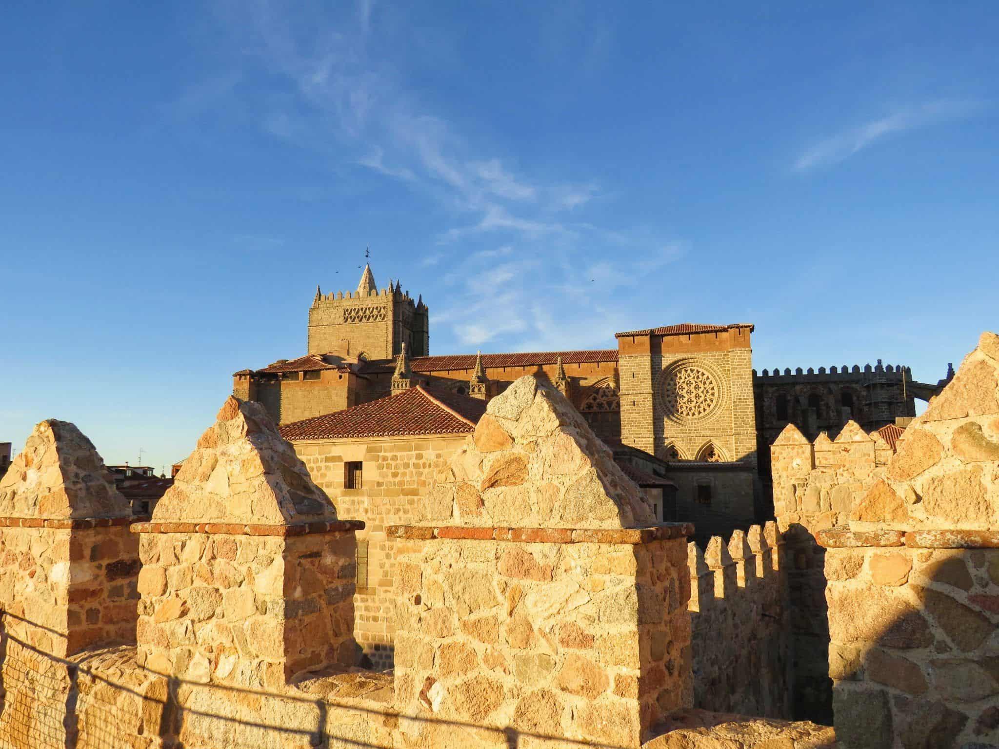 La catedral desde Muralla de Ávila