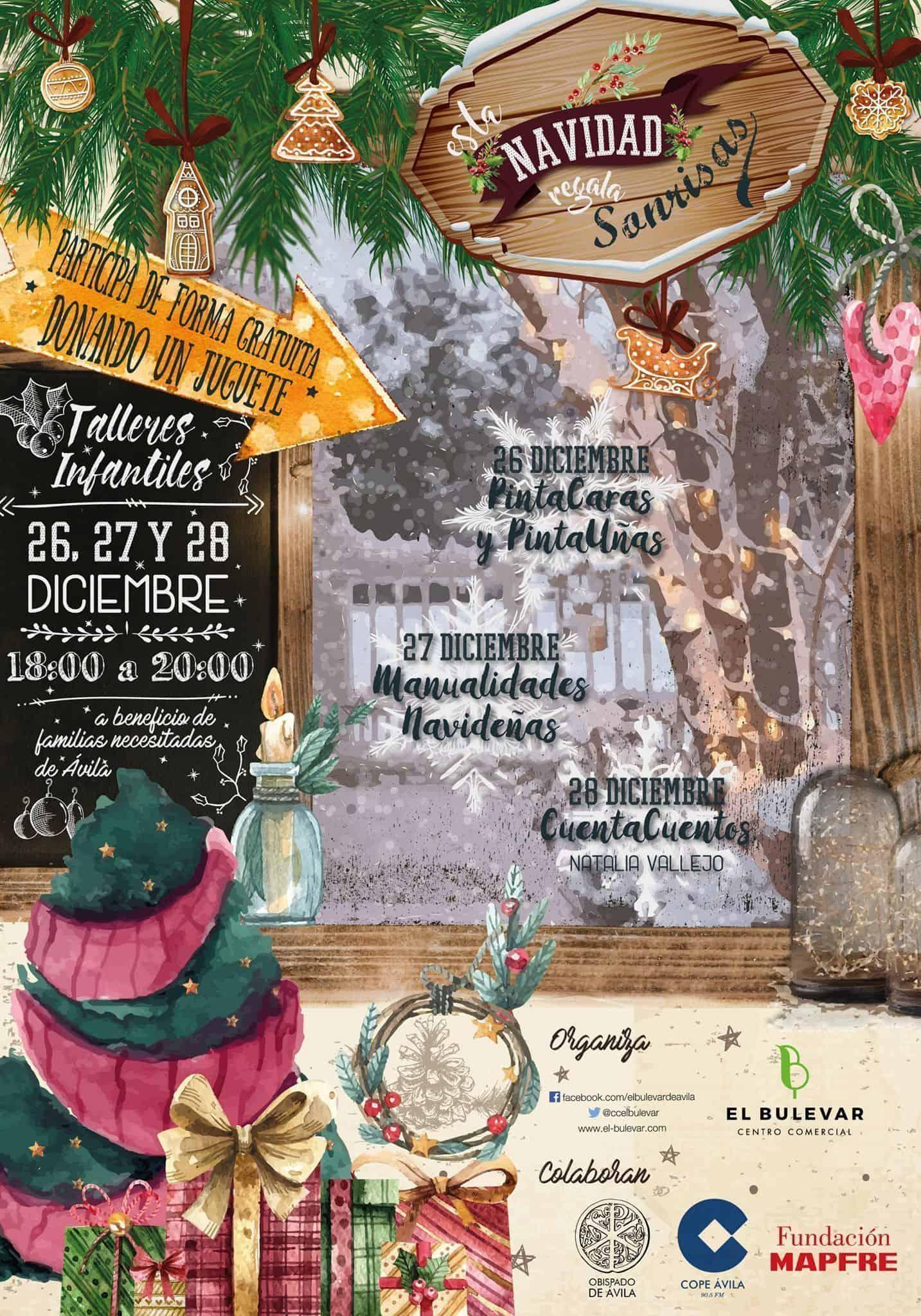 Talleres navideños solidarios de COPE Ávila en El Bulevar