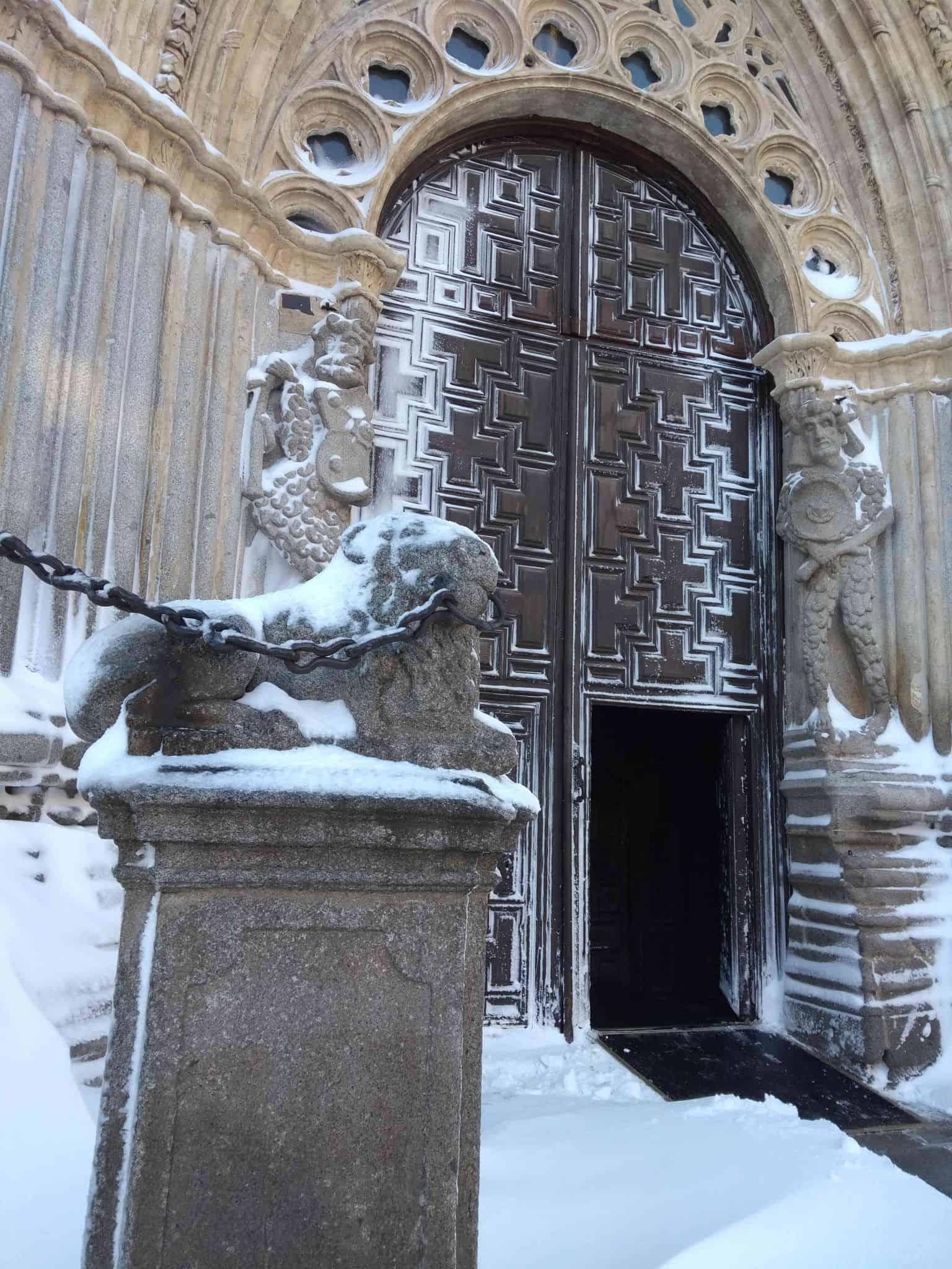 Ávila con nieve