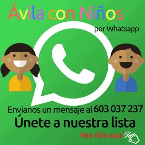 ávila con niños whatsapp