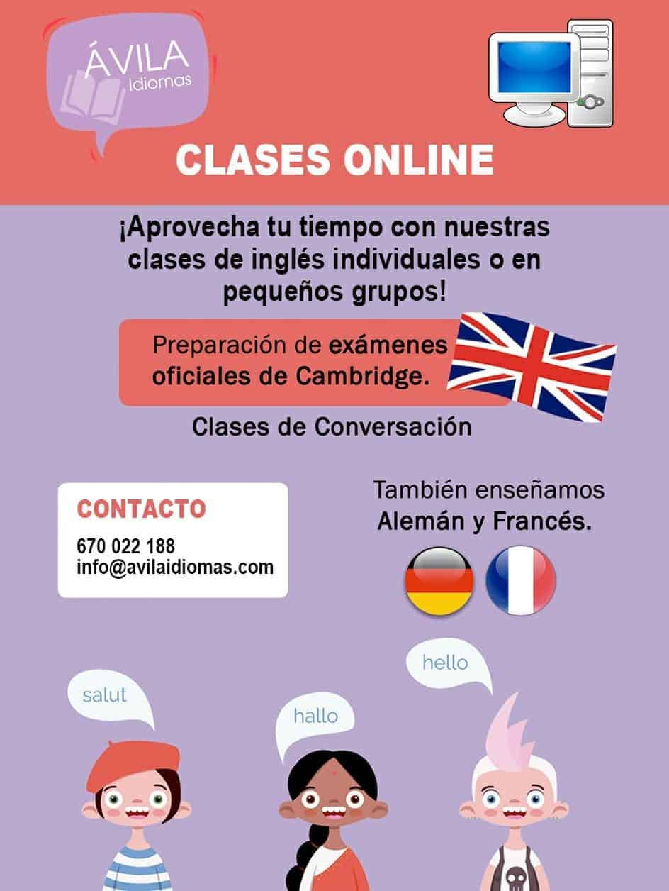 clases on line Ávila Idiomas