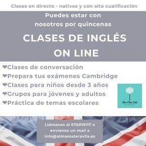 Clases de inglés online con Alma Mater