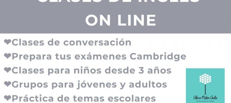 Clases inglés online Alma Mater